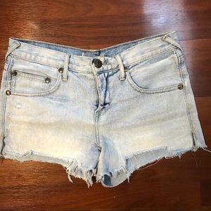 Free People light blue distressed cutoff shorts